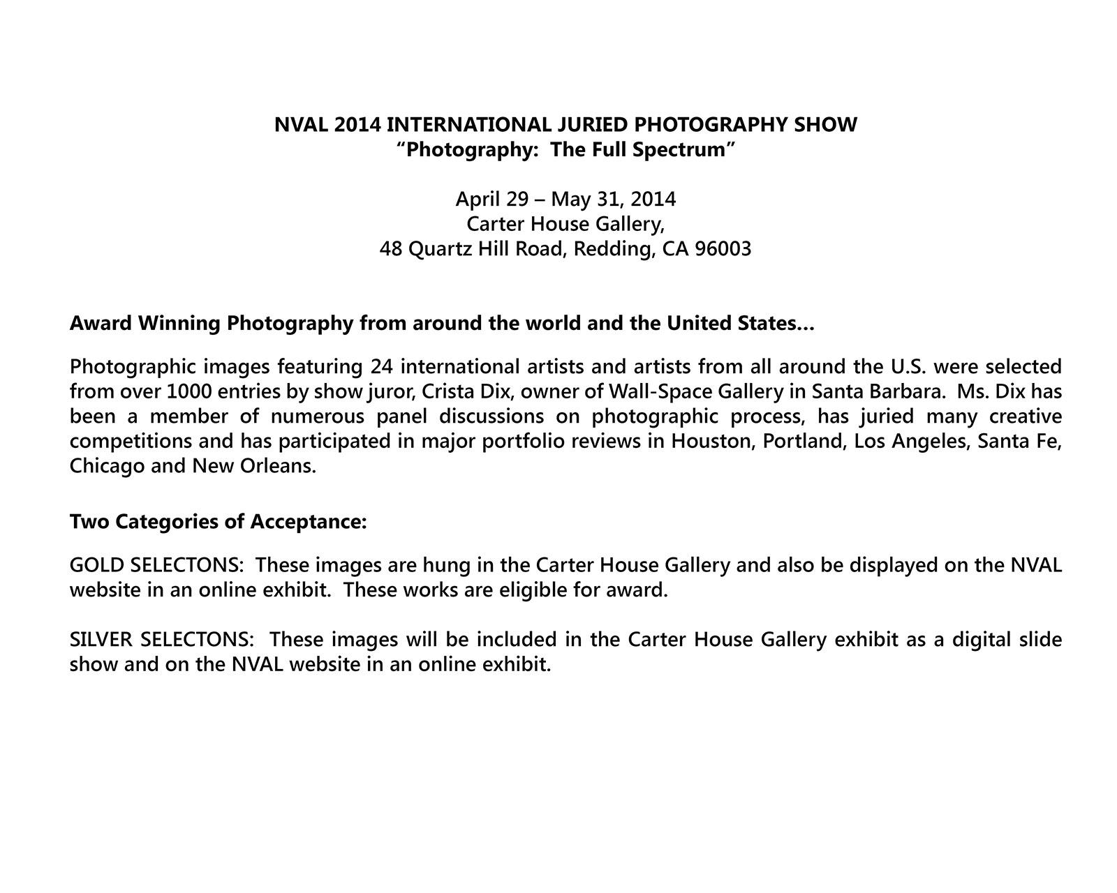 1 - NVAL 2014 Exhibit Info