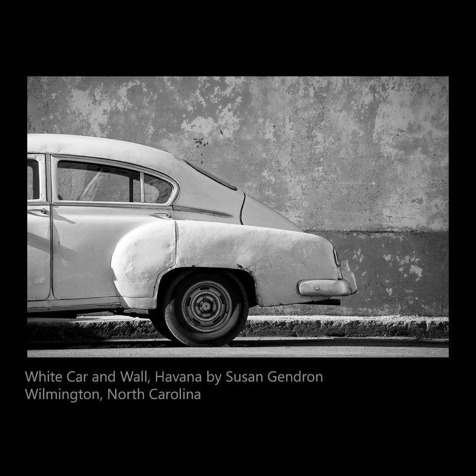 Gendron, Susan - White Car and Wall, Havana