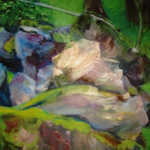 """Romancing the Stone"" by Vivian Nestel - Oil"